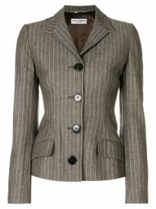 Dolce & Gabbana Pre-Owned fitted pinstripe jacket - Brown