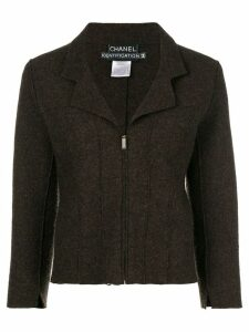 Chanel Pre-Owned long-sleeve zipped jacket - Brown
