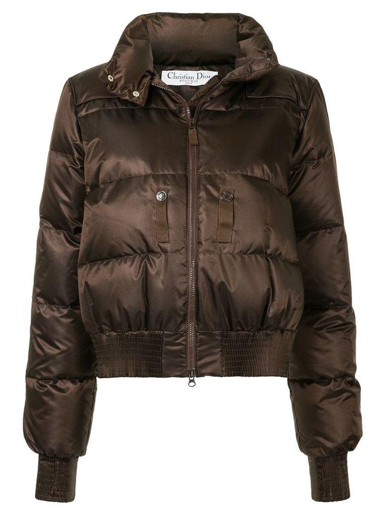 Christian Dior Vintage high collar puffer jacket - Brown