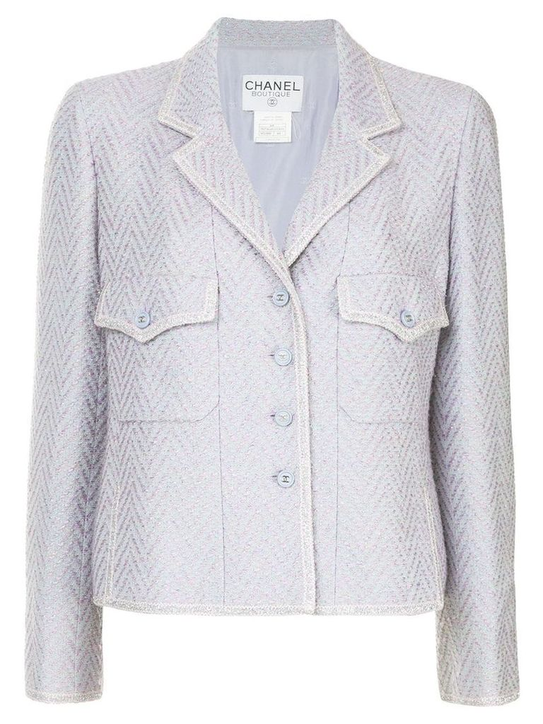 Chanel Vintage fishtail pattern fitted jacket - Pink & Purple