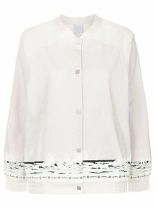 Chanel Pre-Owned glacial horizon print bomber - PINK