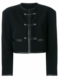 Jean Paul Gaultier Pre-Owned Safety pins cropped jacket - Black