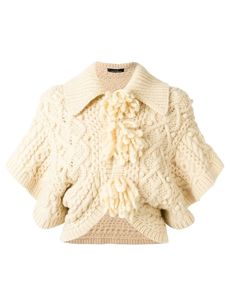 Comme Des Garçons Vintage cropped knitted jacket - Nude & Neutrals