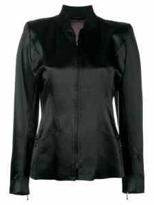 John Galliano Pre-Owned standing collar jacket - Black
