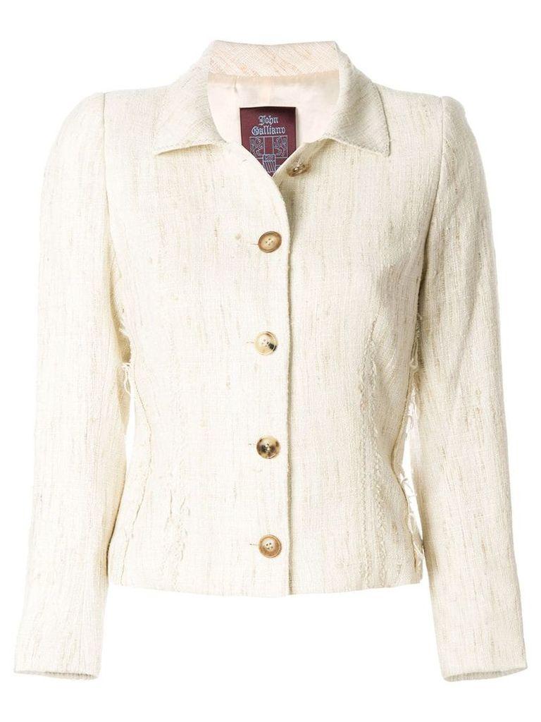 John Galliano Vintage single breast jacket - Nude & Neutrals
