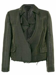 Comme Des Garçons Pre-Owned distressed cropped jacket - Black