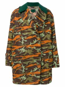 Jean Paul Gaultier Pre-Owned double-breasted camouflage coat -