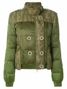 Christian Dior pre-owned double-breasted quilted jacket - Green