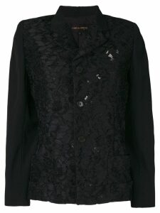 Comme Des Garçons Pre-Owned lace panel jacket - Black
