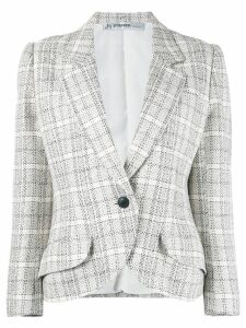 Jean Louis Scherrer Pre-Owned checked blazer - NEUTRALS