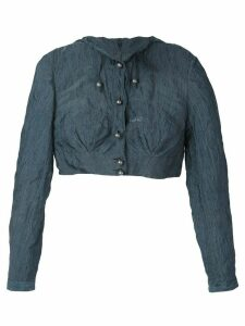 Romeo Gigli Pre-Owned cropped hooded jacket - Blue