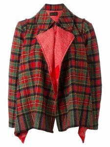 Comme Des Garçons Pre-Owned tartan shrug jacket - Red