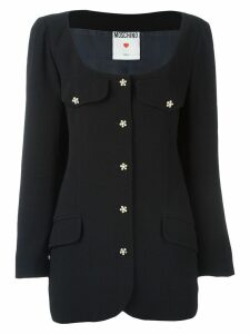 Moschino Pre-Owned scoop neck jacket - Black