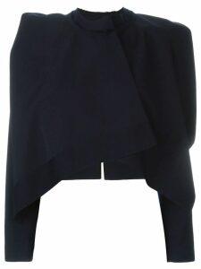 Comme Des Garçons Pre-Owned bolero cape jacket - Blue