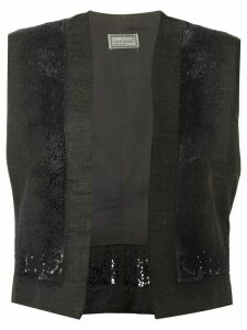 Versace Pre-Owned floral embroidered gilet - Black