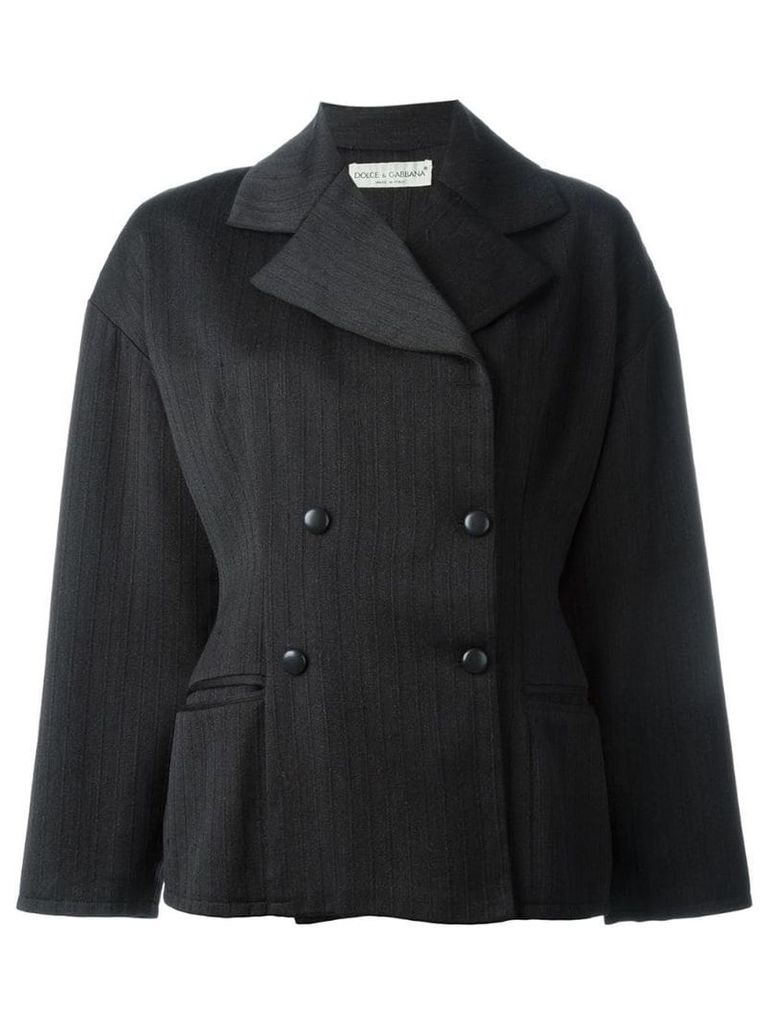 Dolce & Gabbana Vintage textured boxy jacket - Grey