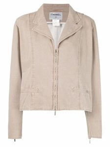 Chanel Pre-Owned zip jacket - NEUTRALS