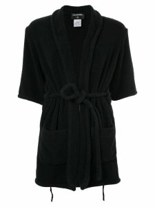 Chanel Pre-Owned Chanel Pre-Owned Long Sleeve Bathrobes - Black