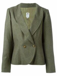 Emanuel Ungaro Pre-Owned curved hem blazer - Green
