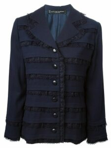 Jean Louis Scherrer Pre-Owned lace panel jacket - Blue