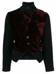 Comme Des Garçons Pre-Owned velveteen fitted bomber jacket - Red