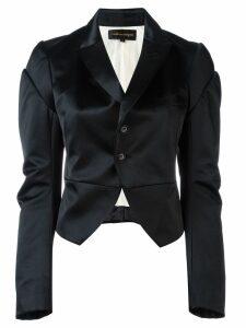 Comme Des Garçons Pre-Owned satin tuxedo jacket - Black