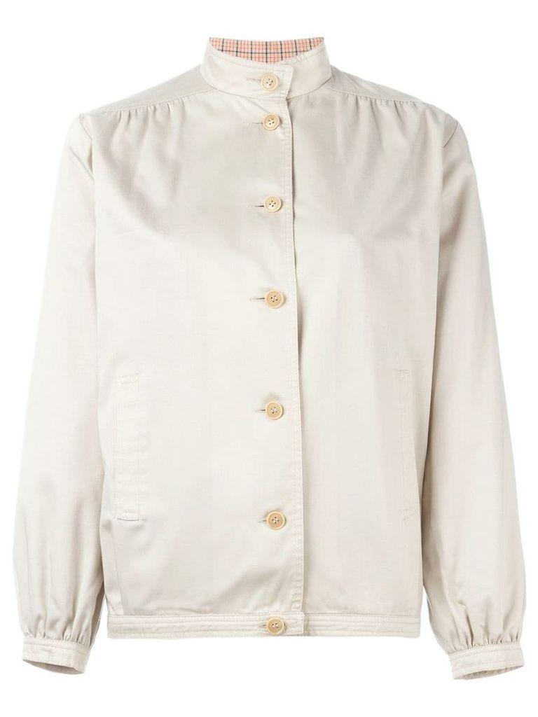 Céline Vintage mandarin collar jacket - Nude & Neutrals