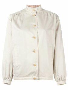 Céline Pre-Owned mandarin collar jacket - NEUTRALS