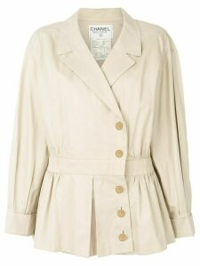 Chanel Pre-Owned 1990 cropped trench coat - NEUTRALS