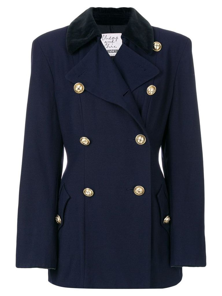 Moschino Vintage double breasted jacket - Blue