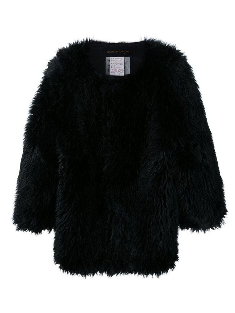 Comme Des Garçons Vintage oversized faux fur jacket - Black