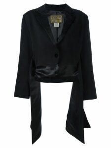 Kenzo Pre-Owned side draped jacket - Black
