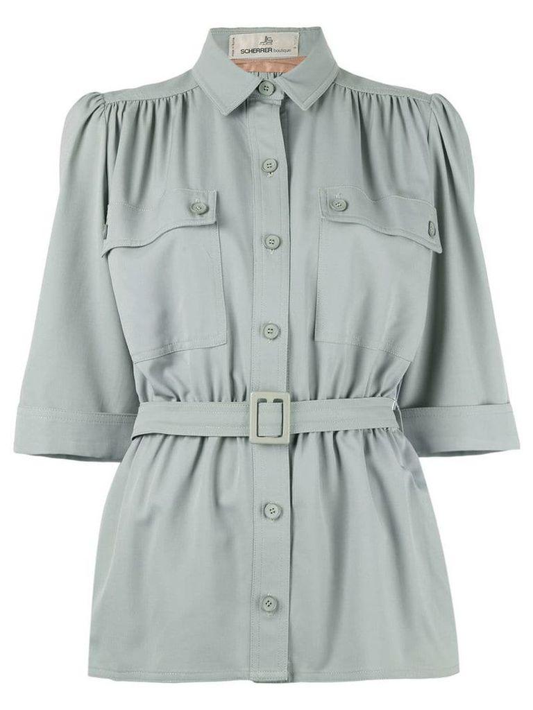 Jean Louis Scherrer Vintage belted jacket - Grey