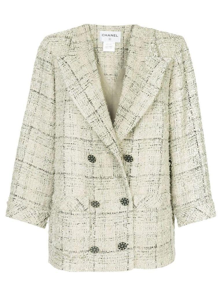 Chanel Vintage double breasted tweed jacket - Grey