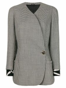Versace Pre-Owned gingham checked jacket - White
