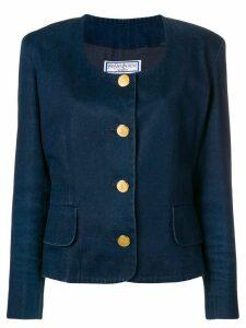 Yves Saint Laurent Pre-Owned denim blazer - Blue