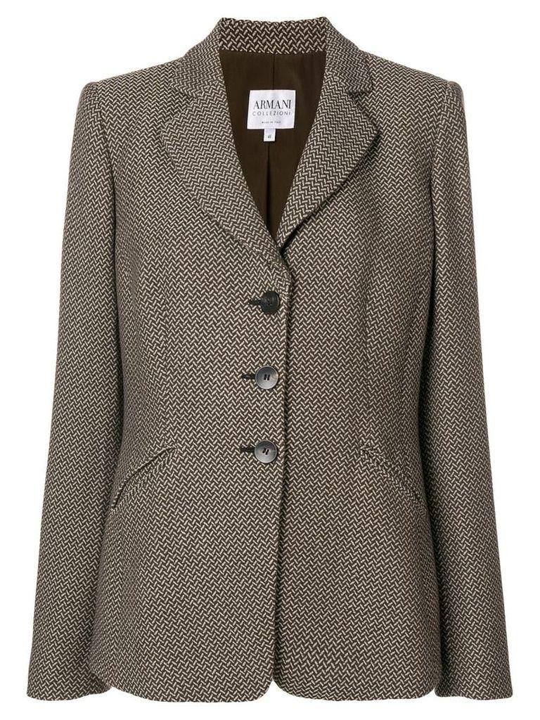 Giorgio Armani Vintage tweed jacket - Brown