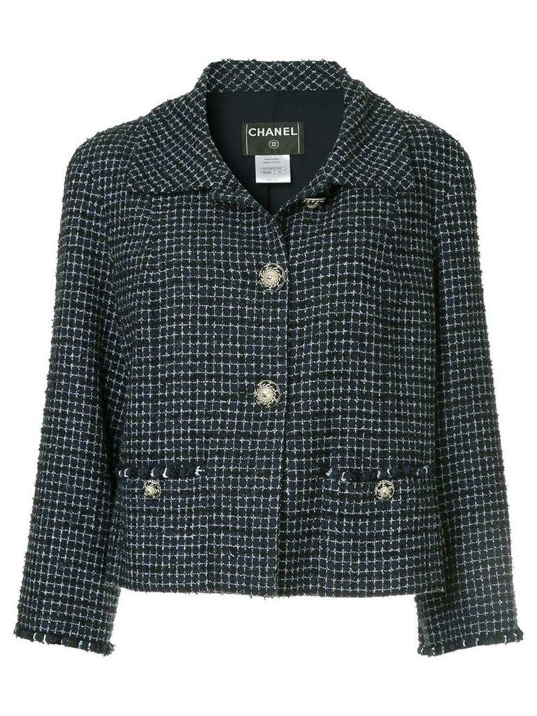 Chanel Vintage checked tweed jacket - Blue