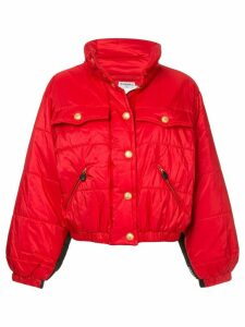 Chanel Pre-Owned 1980s standing collar puffy jacket - Red