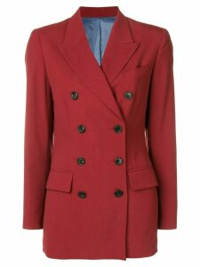Jean Paul Gaultier Pre-Owned boxy double breasted jacket - Red