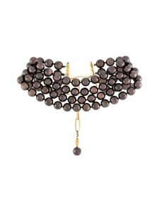 Chanel Pre-Owned 1990's faux pearl choker - Brown