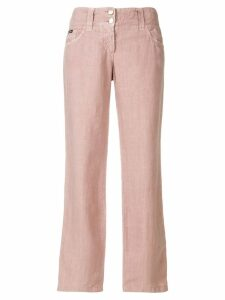 Dolce & Gabbana Pre-Owned cropped straight trousers - PINK