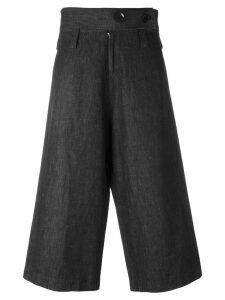 Yohji Yamamoto Pre-Owned high waist cropped trousers - Grey