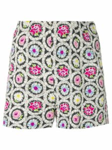 Moschino Pre-Owned flower print shorts - Black