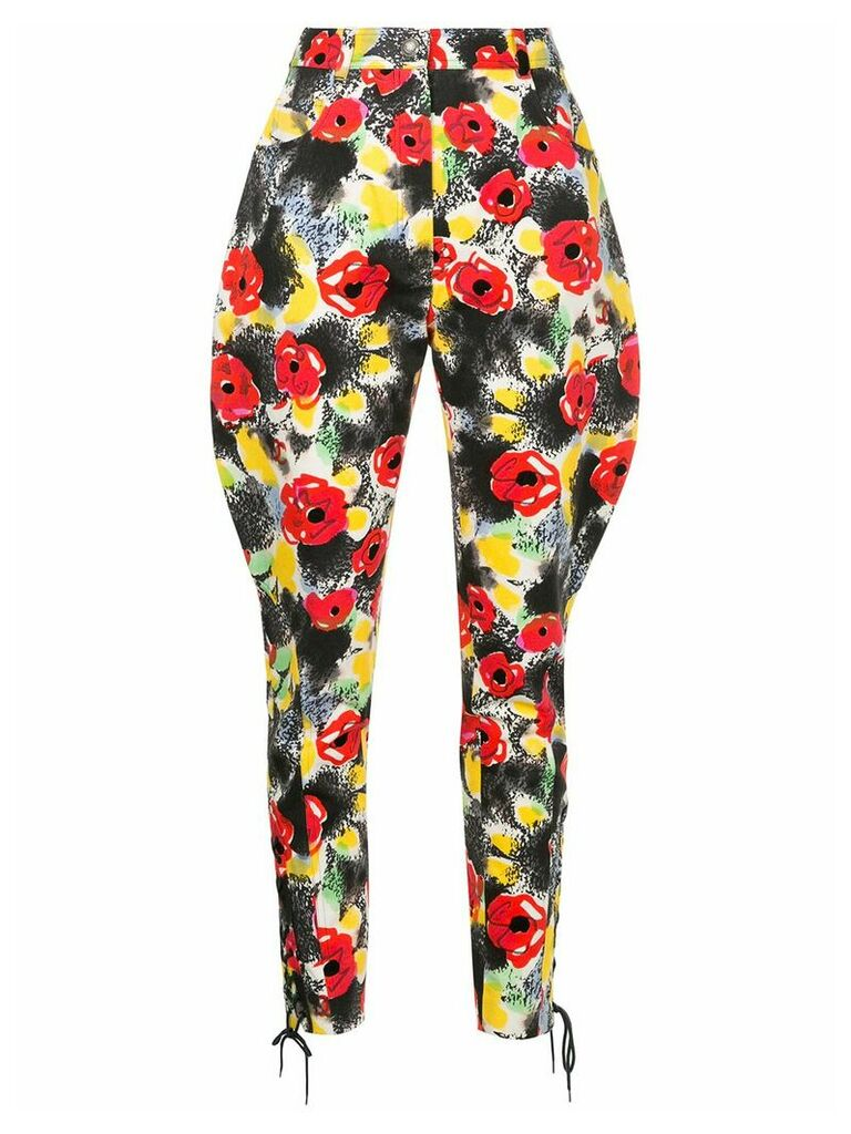 Chanel Vintage floral tailored trousers - Multicolour