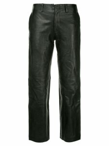 Junya Watanabe Comme des Garçons Pre-Owned cropped trousers - Black
