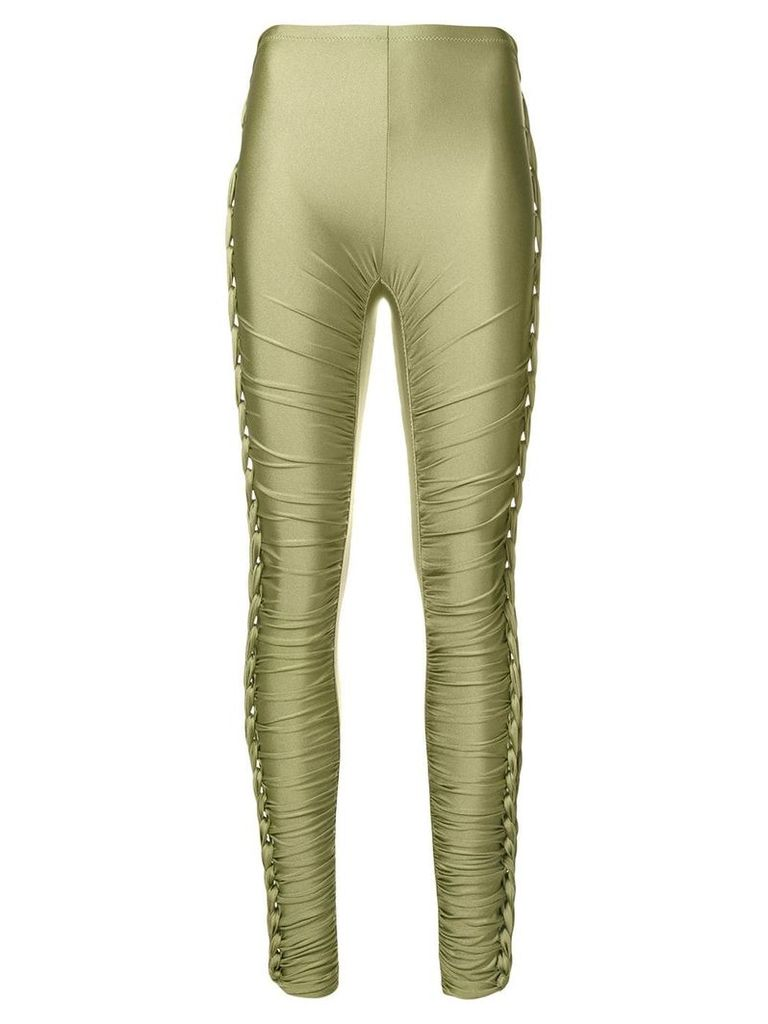 Jean Paul Gaultier Vintage braided lateral trousers - Green