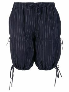 Jean Paul Gaultier Pre-Owned pinstripe gathered shorts - Blue