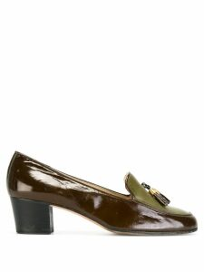 Céline Pre-Owned tasseled loafers - Brown