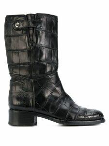 Giorgio Armani Pre-Owned calf length riding boots - Black